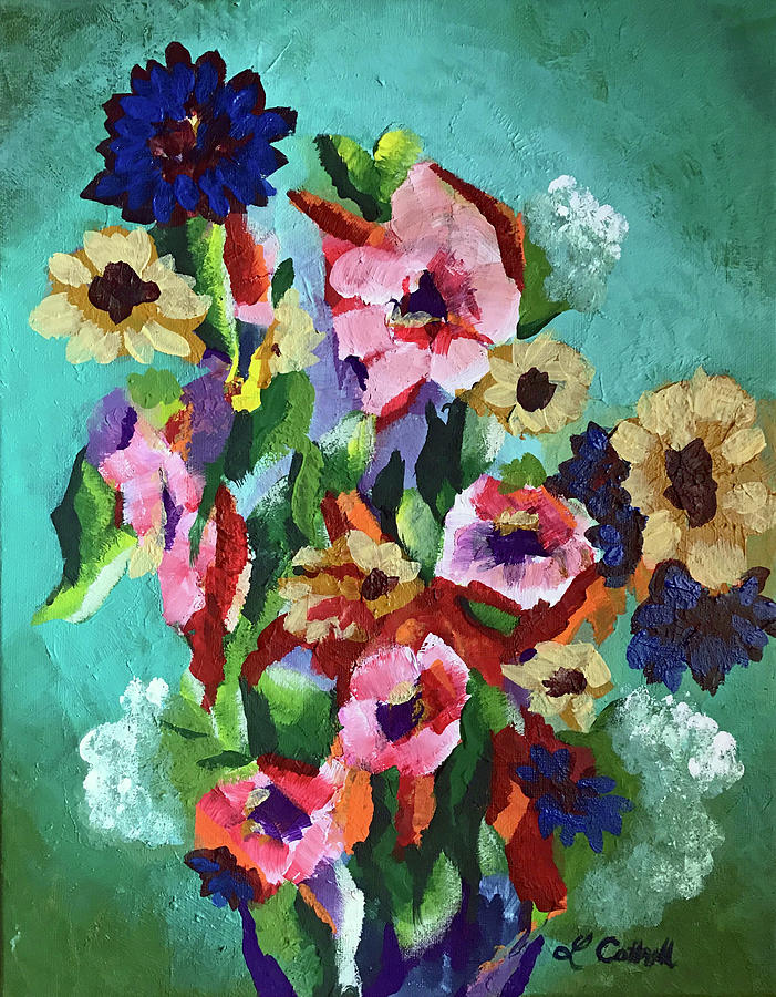Floral Painting - Tropical Impression by Laura Cottrell