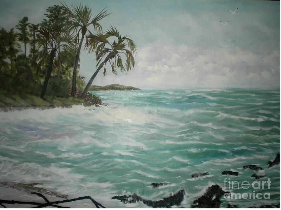 South Seas Painting - Tropical Island by Hal Newhouser