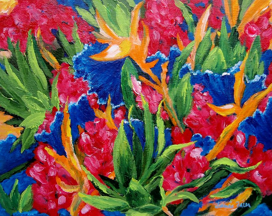 Flowers Painting - Tropical by Jamie Frier