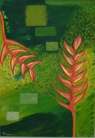 Tropical Flowers Painting - Tropical Joy   Alegria Tropical by ML Vaamonde