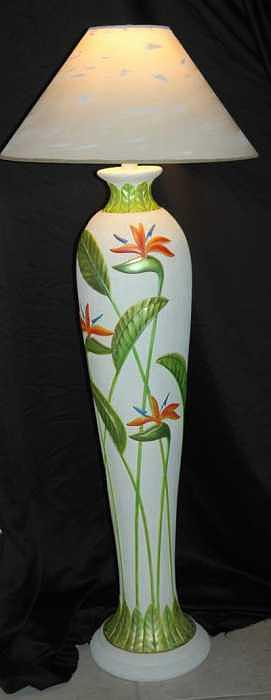 Tropical Lamp Ceramic Art by Mickie Boothroyd