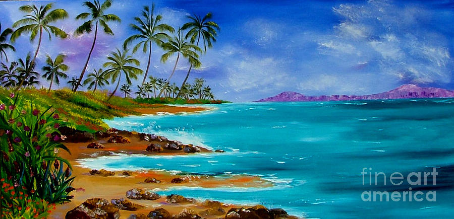 tropical landscape painting by inna montano