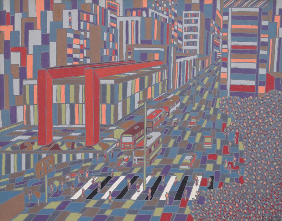 Sao Paulo Painting - Tropical Masp by Muniz Filho