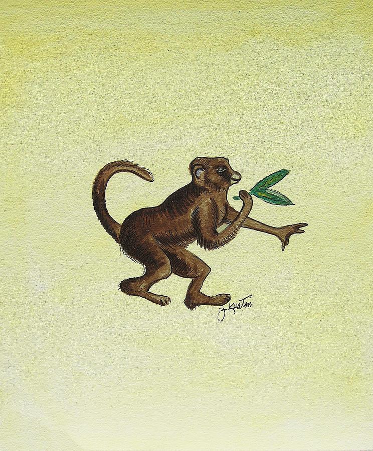 Monkeys Painting - Tropical Monkey 2 by John Keaton