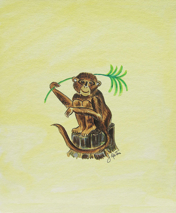 Monkeys Painting - Tropical Monkey 3 by John Keaton