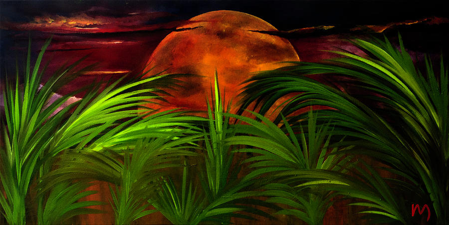 Tropical Moon Painting - Tropical Moon by Rolly Mouchaty