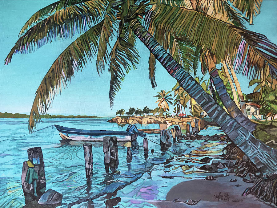 Paradise Painting - Tropical Morning by Faythe Mills