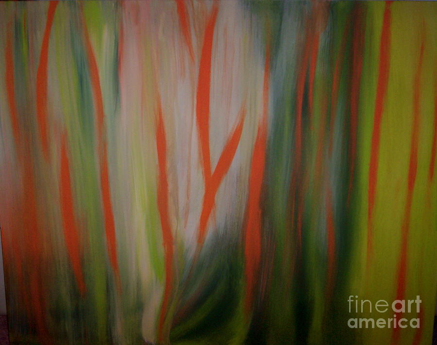 Abstract Painting - Tropical Morning by Lynda Farrow