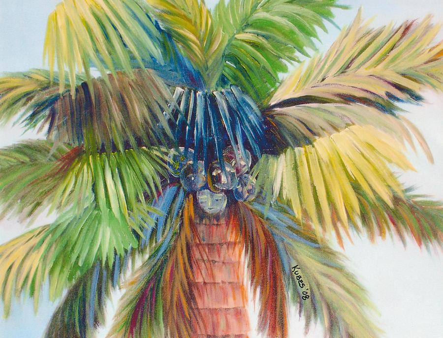 Palm Painting - Tropical Palm Inn by Susan Kubes