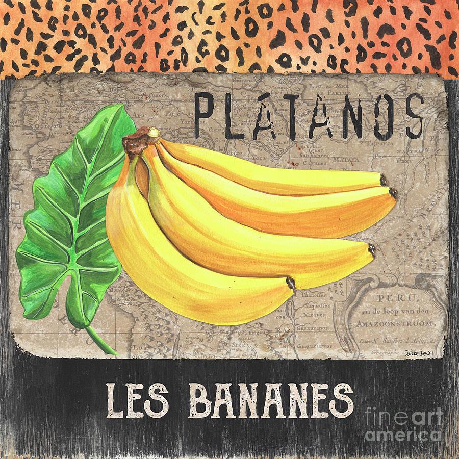 Bananas Painting - Tropical Palms 4 by Debbie DeWitt