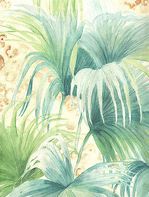 Palm Leaf Painting - Tropical Palms And Animal Prints by Marja Koskinen-Talavera