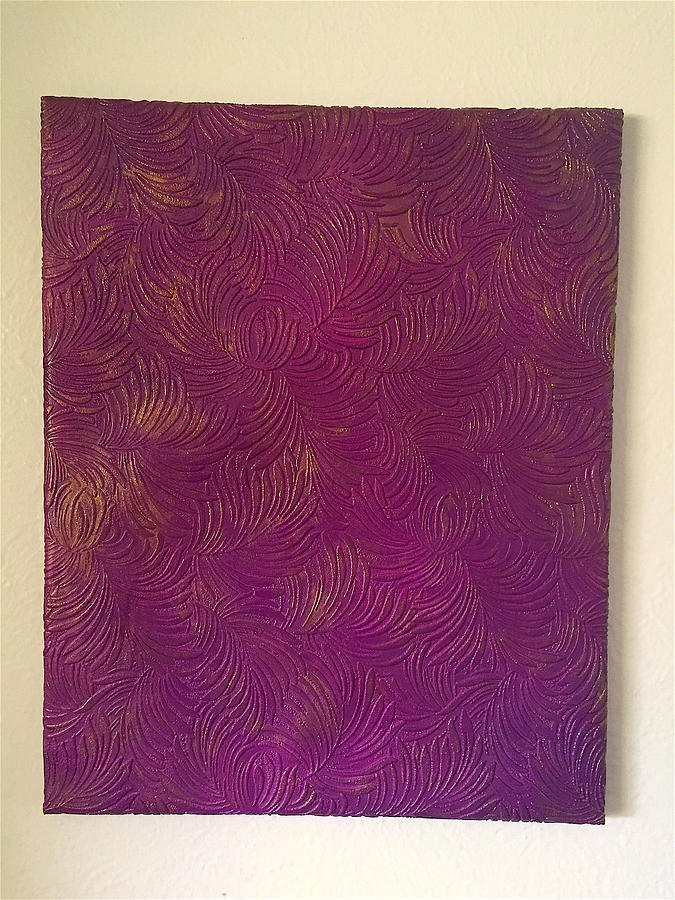 Tropical Painting - Tropical Palms Canvas Purple - 16x20 Hand Painted by Artistic Mystic