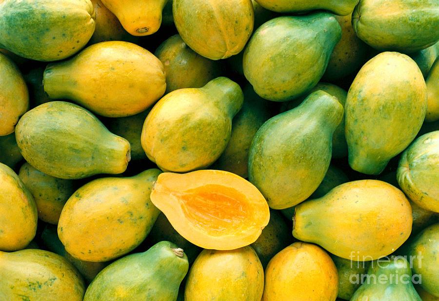 Cut Photograph - Tropical Papayas by Greg Vaughn - Printscapes