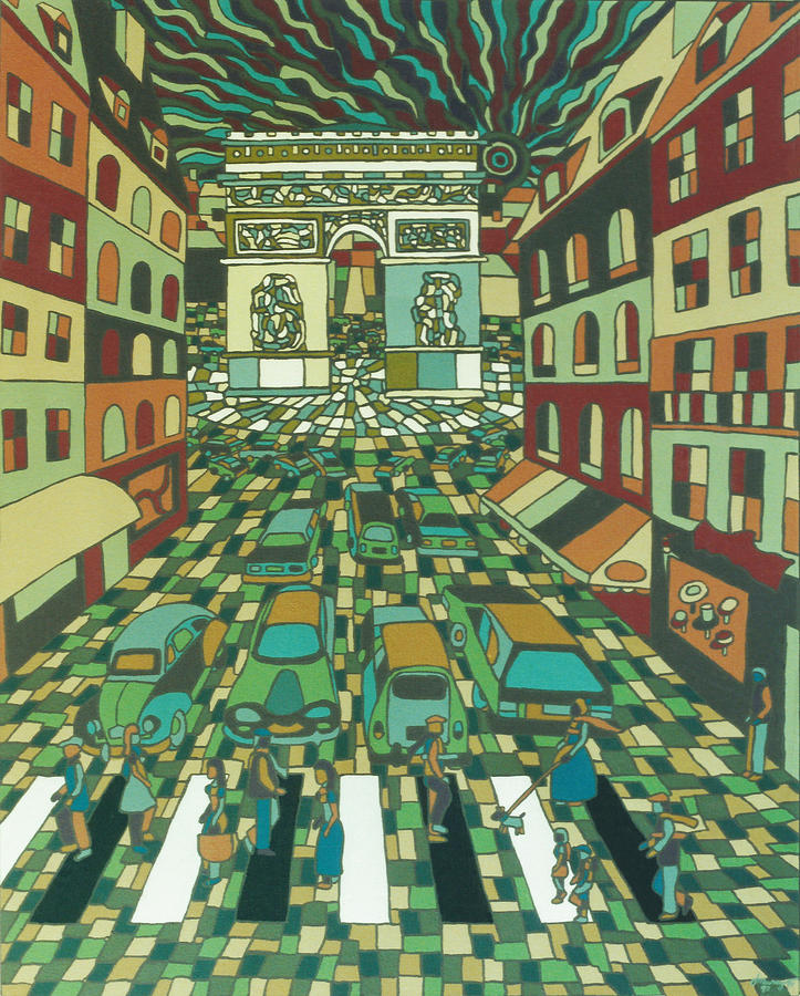 Paris Painting - Tropical Paris by Muniz Filho