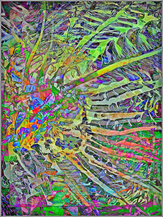 Abstract Painting - Tropical Rays by Mindy Newman