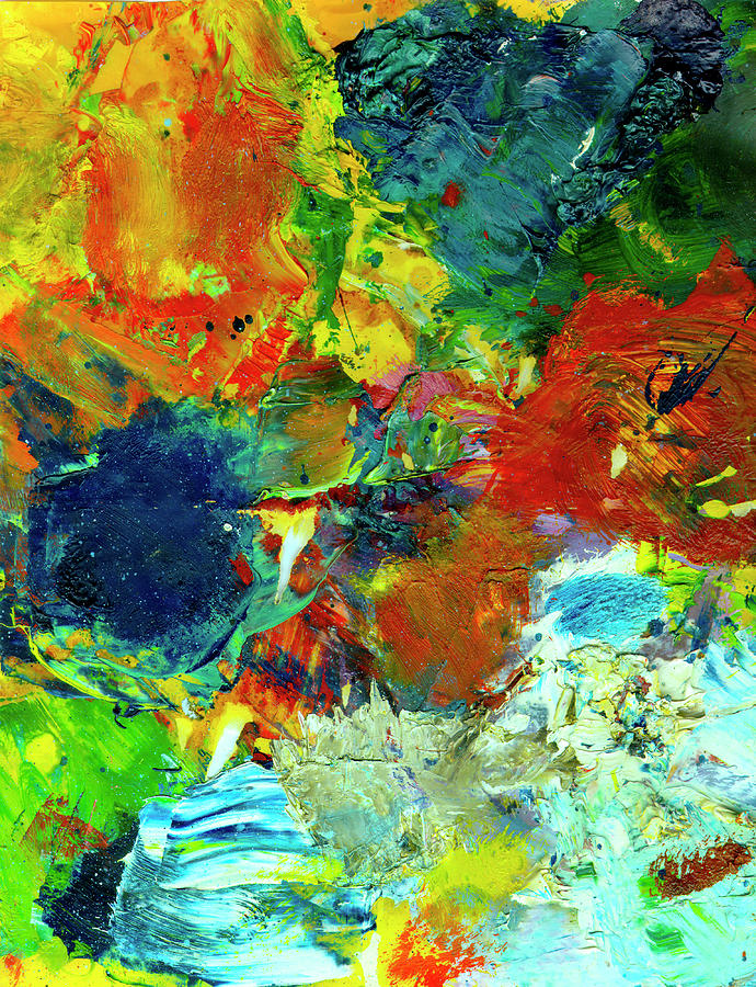 Abstract Painting Painting - Tropical Reef #308 by Donald k Hall