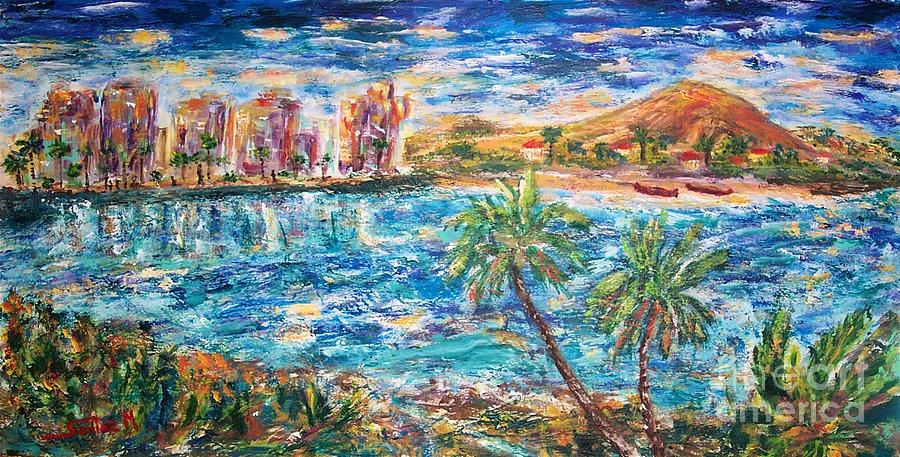 Sedici Art Painting - Tropical Resort by Mary Sedici