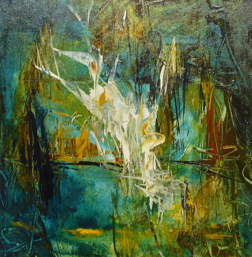 Contemporary Painting - Tropical Rhythms by Mary Sullivan