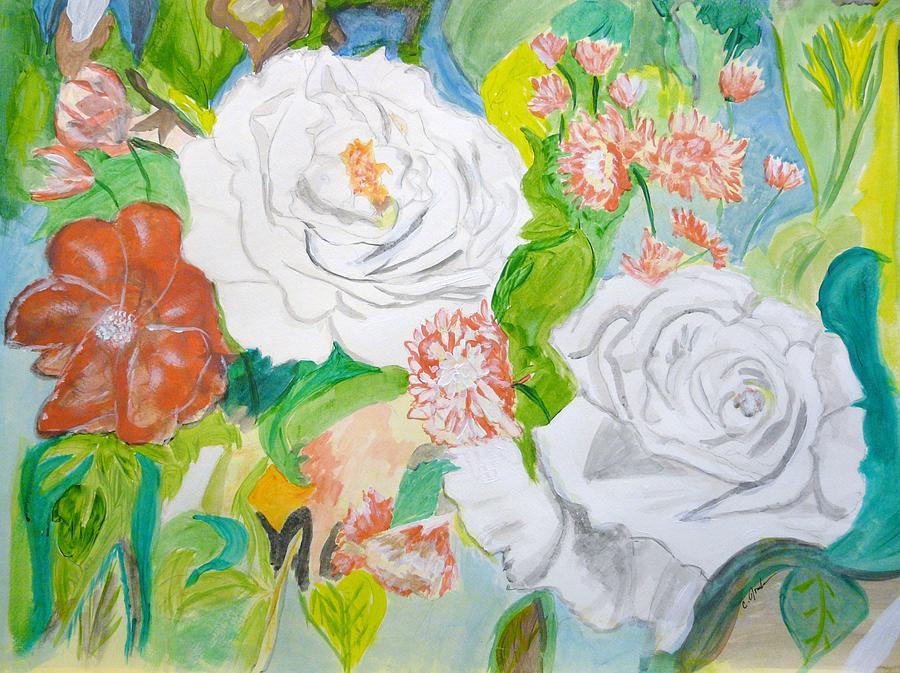 Tropical Rose Painting by Cathy Jourdan