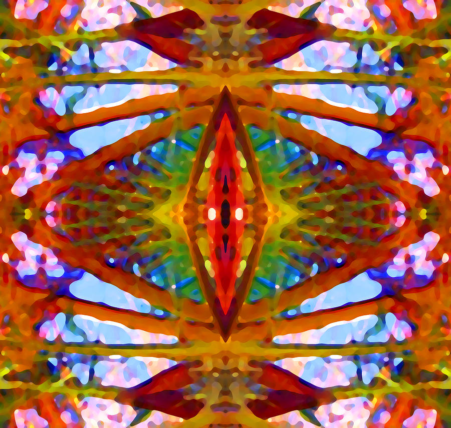 Abstract Painting - Tropical Stained Glass by Amy Vangsgard