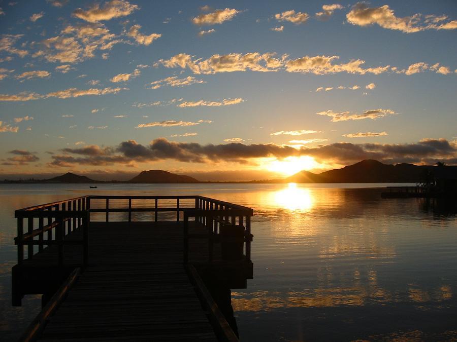 Ocean Photograph - Tropical Sunrise by Halle Treanor