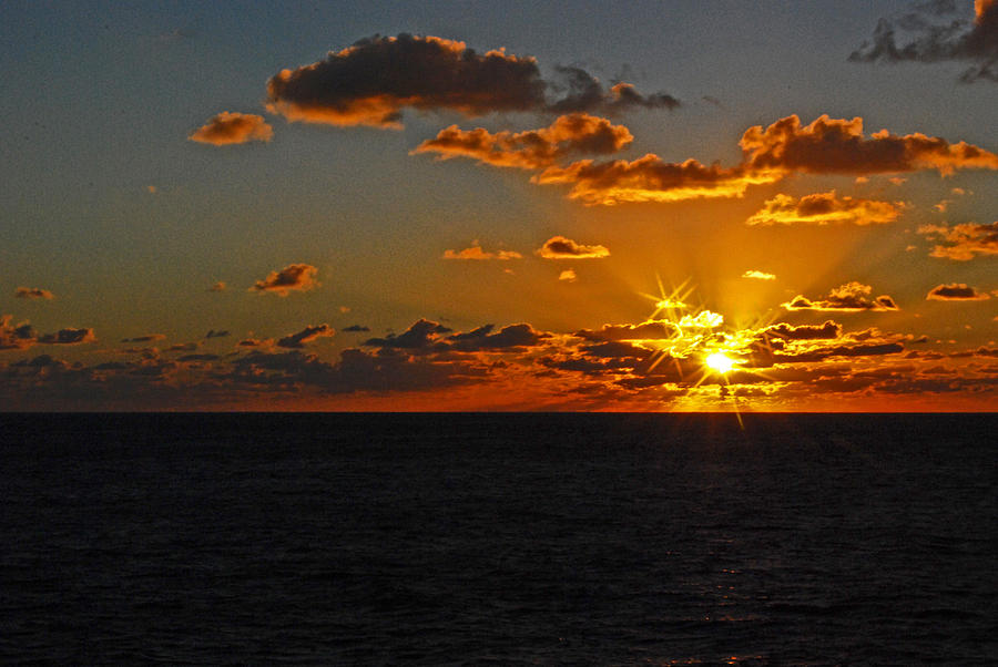 Sunset Photograph - Tropical Sunset by Gary Wonning