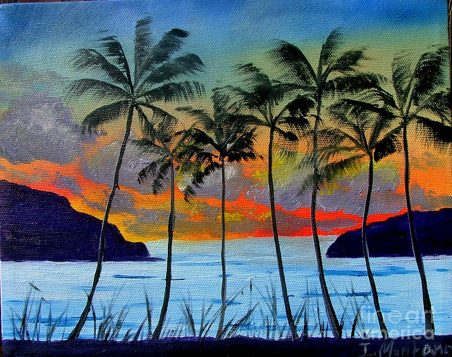 Sunset Painting - Tropical Sunset by Inna Montano