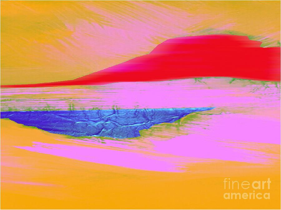 Abstract Digital Art - Tropical Sunset by Mimo Krouzian