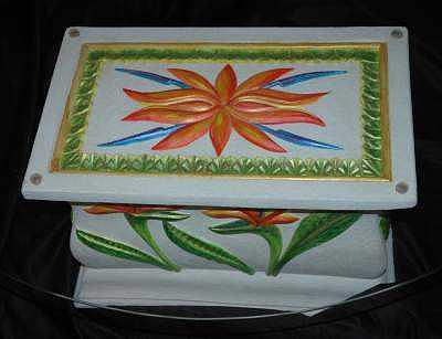Tropical Table Ceramic Art by Mickie Boothroyd