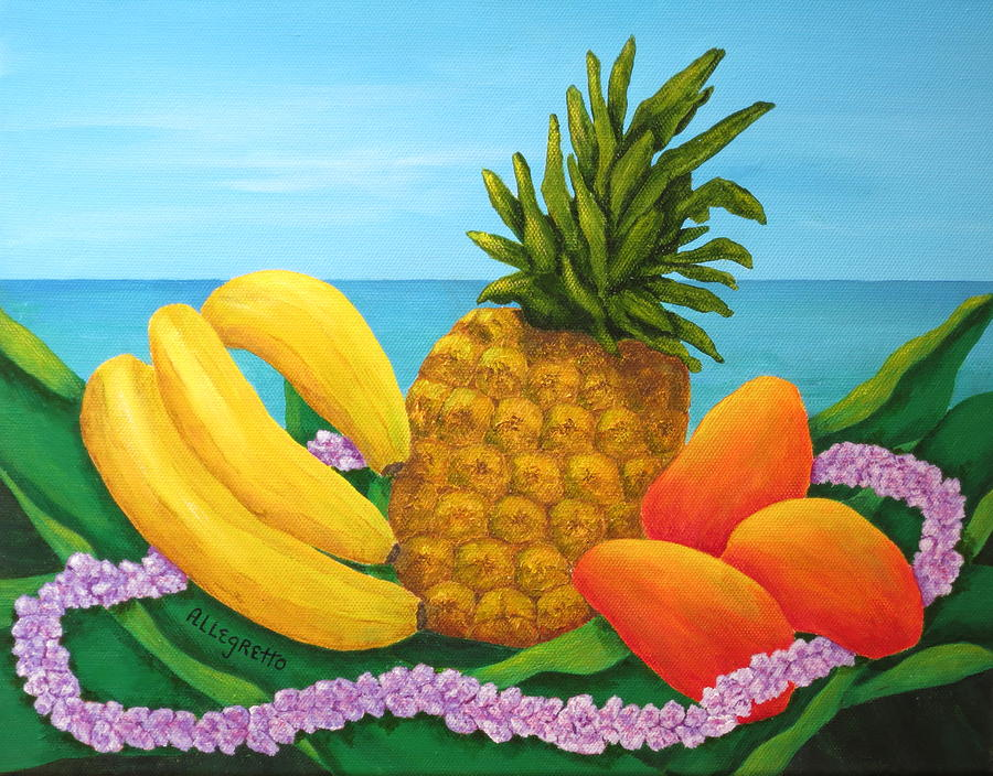 Acrylic Painting - Tropical Trinity by Pamela Allegretto