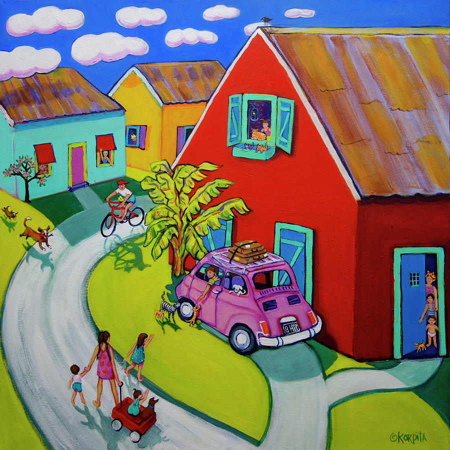 Tropical Village - Welcome Home by Rebecca Korpita