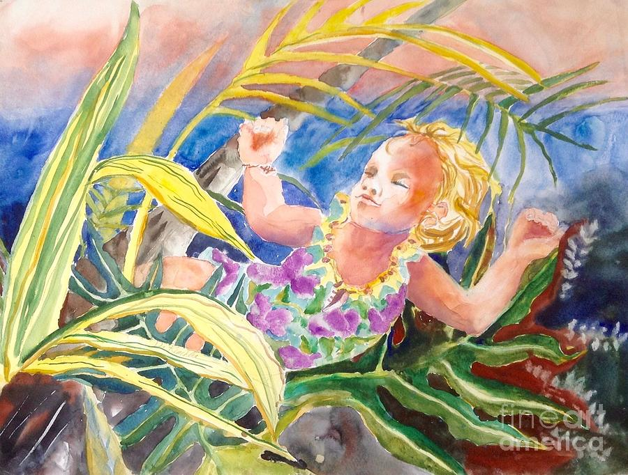 Tropical Water Baby Painting by Diane Renchler