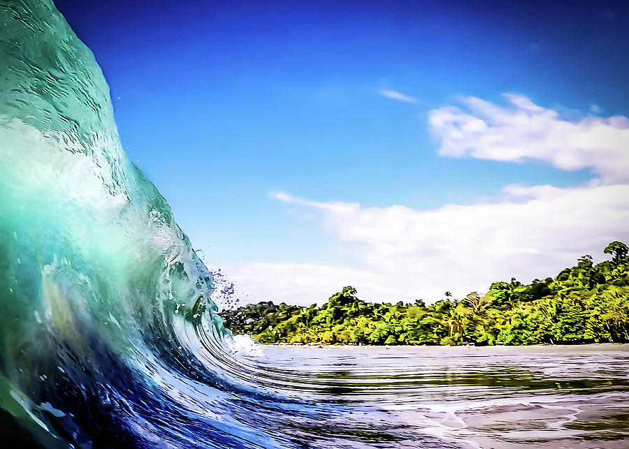 Wave Photograph - Tropical Wave by Nicklas Gustafsson