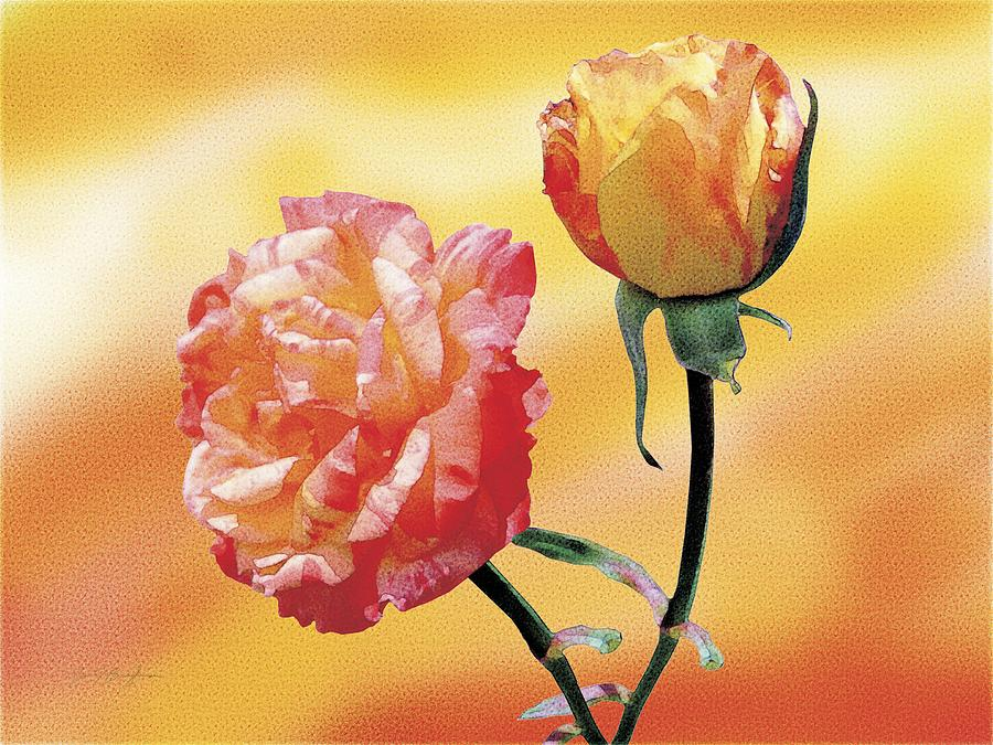 Rose Painting - Tropicana Roses 2 by Jan Baughman