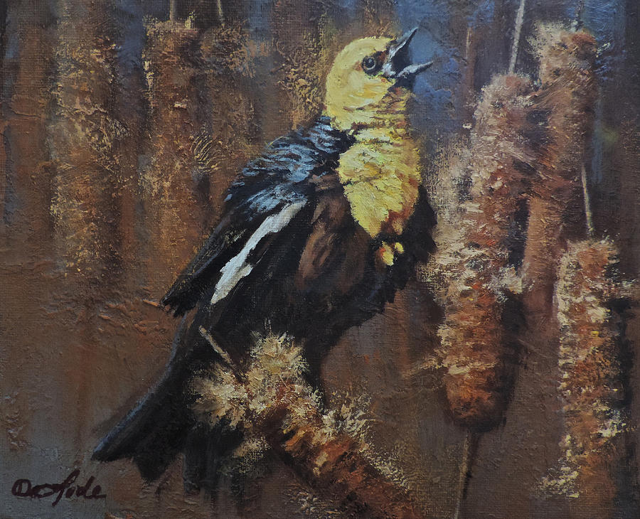 Songbird Painting - Troubadour by Mia DeLode