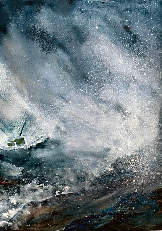 Storm Painting - Trouble by Barbara Porto