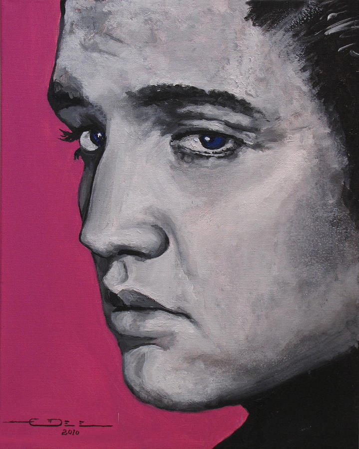 Elvis Presley Painting - Trouble - Born Standing Up by Eric Dee