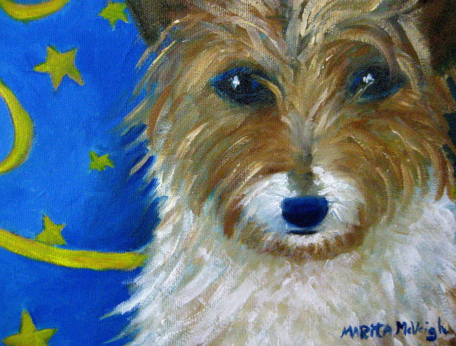 Puppy Painting - Trouble by Marita McVeigh