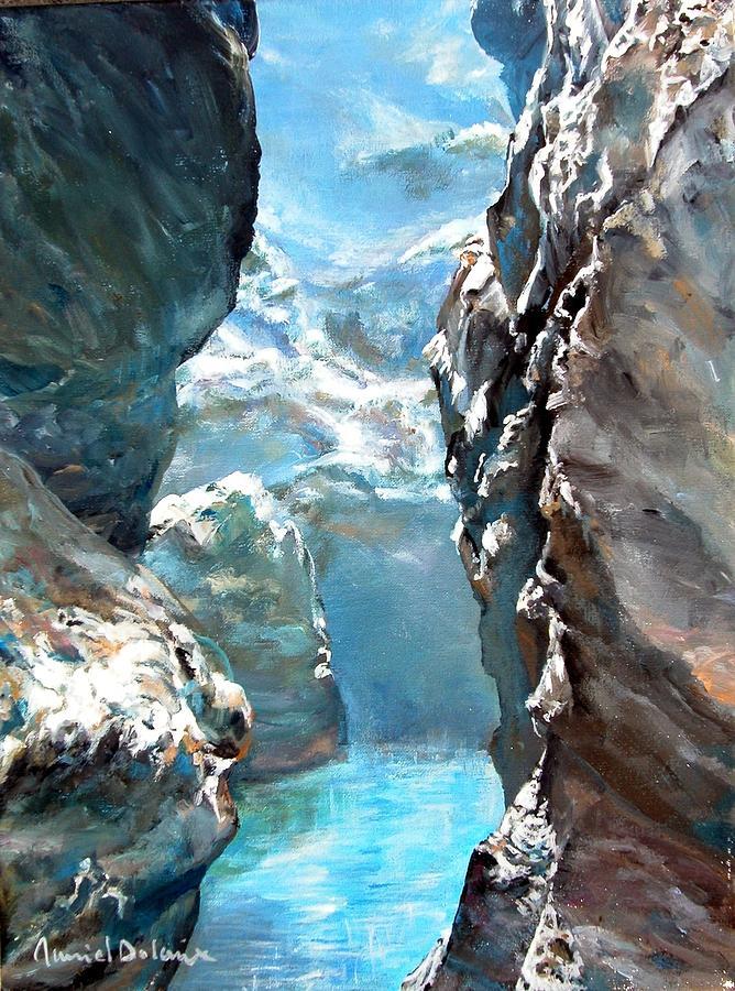 Landscape Painting - Trouee 3 by Muriel Dolemieux