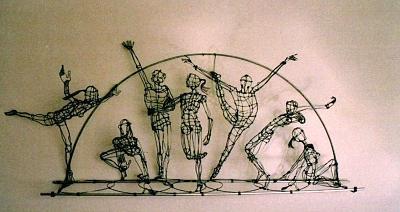 Troupe Movement Sculpture by Simon Berson