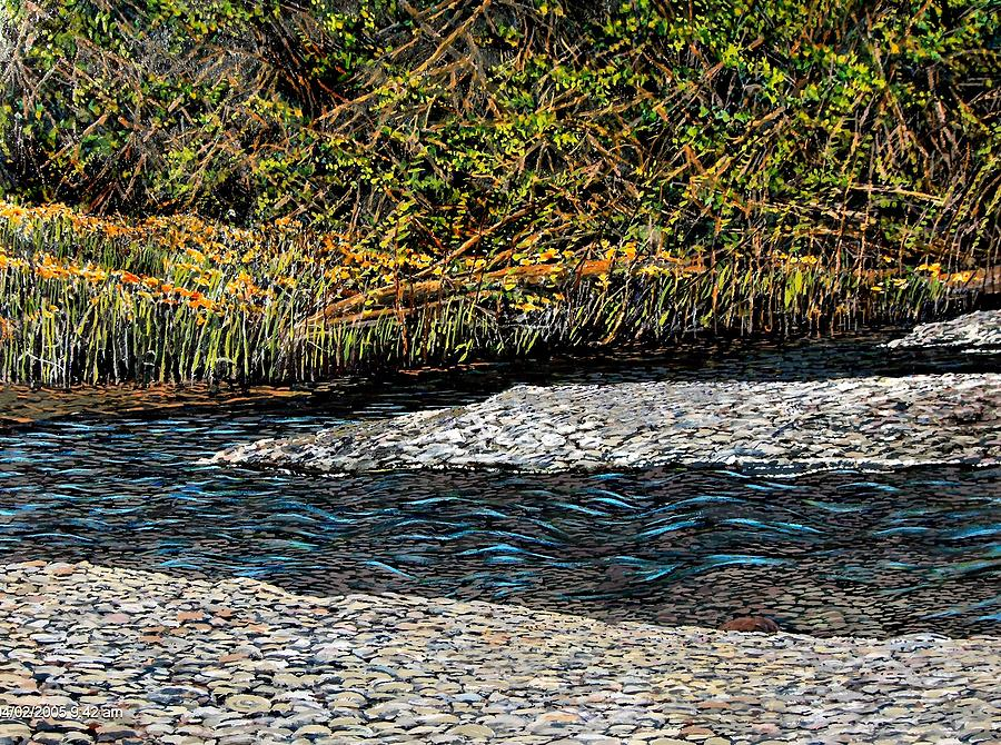 Aquatic Landscape Digital Art - Trout Creek by Melvin Pierre