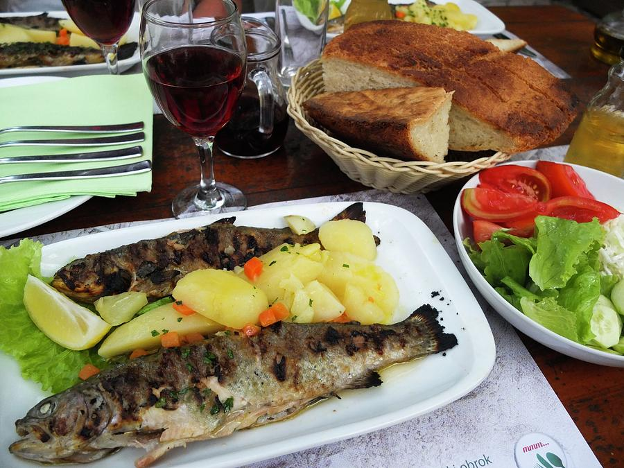 Trout Photograph - Trout Grilled by Olga Kurygina
