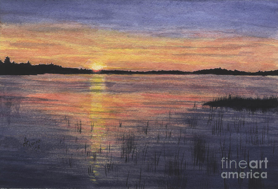 Landscape Painting - Trout Lake Sunset II by Lynn Quinn