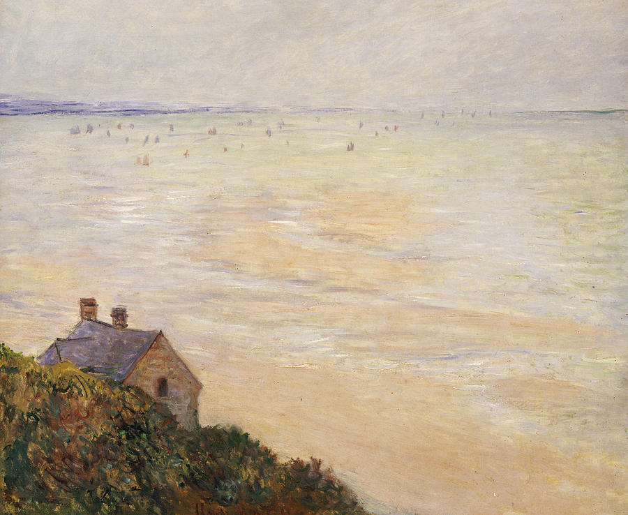 French Painting - Trouville At Low Tide by Claude Monet