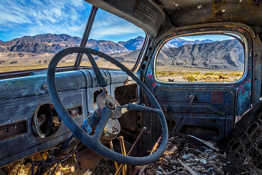 Truck Desert View Photograph