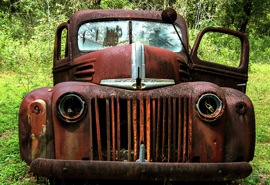Ford Photograph - Truck In Medow by Amy Maros