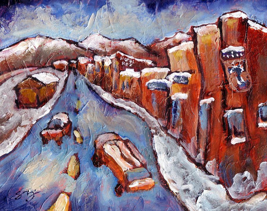Truckee Painting - Truckee First Snow by Sara Zimmerman