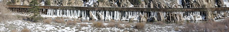 Truckee River Photograph - Truckee River Flumes by Edward Hass