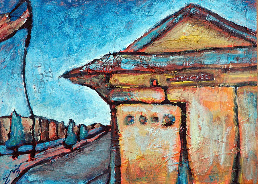 Truckee Painting - Truckee Train Depot Number 2 by Sara Zimmerman