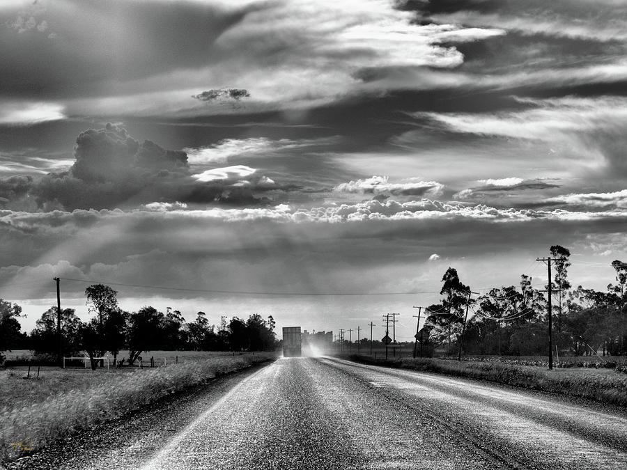 truckies long lonely road by Michael Blaine